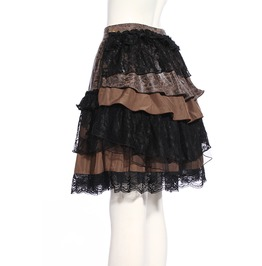 Gothic Coffee Women's Tiered Ruffle Skirt