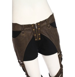 Steampunk Coffee Women's Exposed Thigh Pants