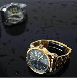 Luxurious Big Sized Frame Sleek Metal Watch 27