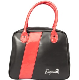 Black & Red Fast Track Bowler Purse From Sourpuss
