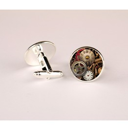 New Arrival Vintage Watch Movement Alloy Shirt Cufflinks