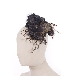 Steampunk Black Flowers Women's Headdress