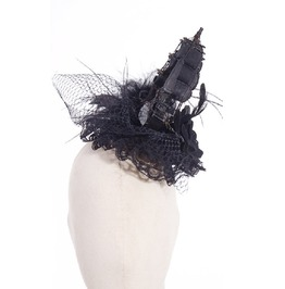 Gothic White Fancy Women's Headdress