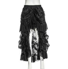 Gothic Coffee Long Lace Women's Skirt