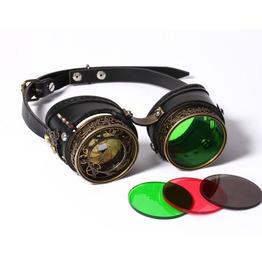 Steampunk Black Women's Airship Navigator Goggles