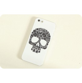 Skull Head Flower Phone 4 Case Punk Phone 4 Case