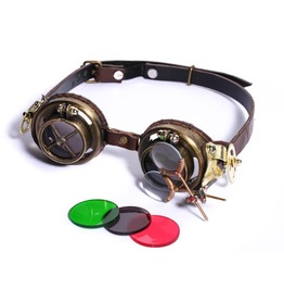 Steampunk Brown Women's Compass Goggles
