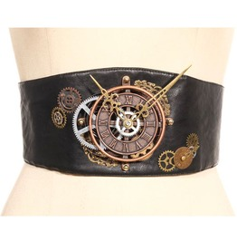 Steampunk Black Women's Chrono Belt
