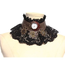 Steampunk Black Women's Choker Necklace