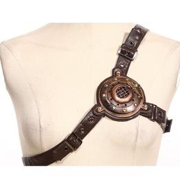 Steampunk Brown Women's Chest Belt Strap