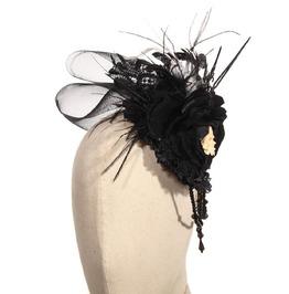 Steampunk Black Women's Skull Headdress