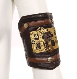 Steampunk Leather Brown Women's Geared Arm Sleeve