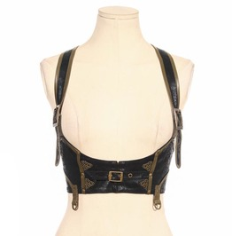 Steampunk Coffee Women's Leather Vest
