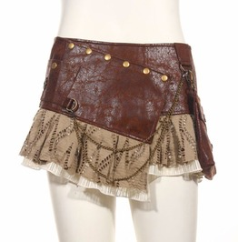 Steampunk Coffee Women's Pocket Skirt