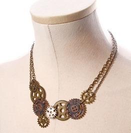 Steampunk Coffee Women's Geared Necklace