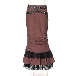 Steampunk Coffee Women's Long Trumpet Skirt