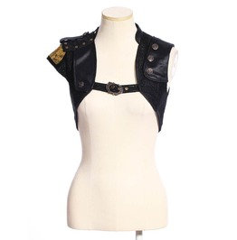 Steampunk Black Women's Bolero Vest