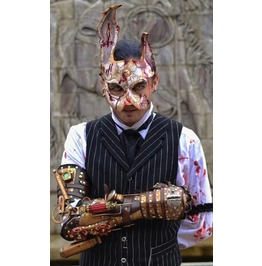 Bio Shock Leather Splicer Rabbit Mask