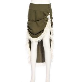 Steampunk Green Women's Long Tail Skirt
