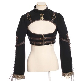 Steampunk Black Women's Overbust Top