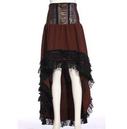 Steampunk Coffee Women's Long Lace Skirt