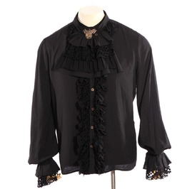 Gothic Black Men's Aristocrat Long Sleeve Shirt