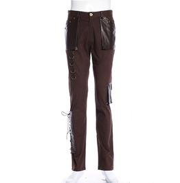 Steampunk Brown Men's Midwest Pants