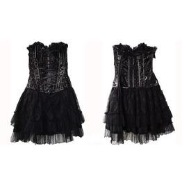 Gothic Lolita Pvc Lace Dress