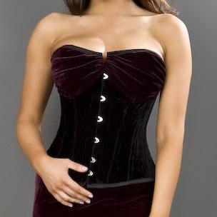 velvet corset