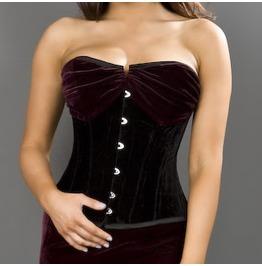 Opera Velvet Black Burgundy Corset
