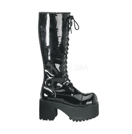Vinyl Platform Boots