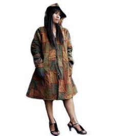 Jacket Coat Hoodie Patchwork,Unique Double Layers,Boho Style100% Cotton