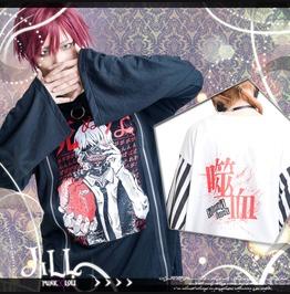 Japan Street Punk Anime Tokyo Ghoul Kaneki Ken Zippered Long Tshirt Jag0043