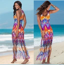 Sexy Evening Party Dress Boho Summer Beach Long Maxi Dress