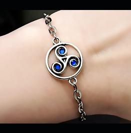 Bdsm Jewelry Symbol Triskele Metal Chain Bracelet Submissive Dominant Woman