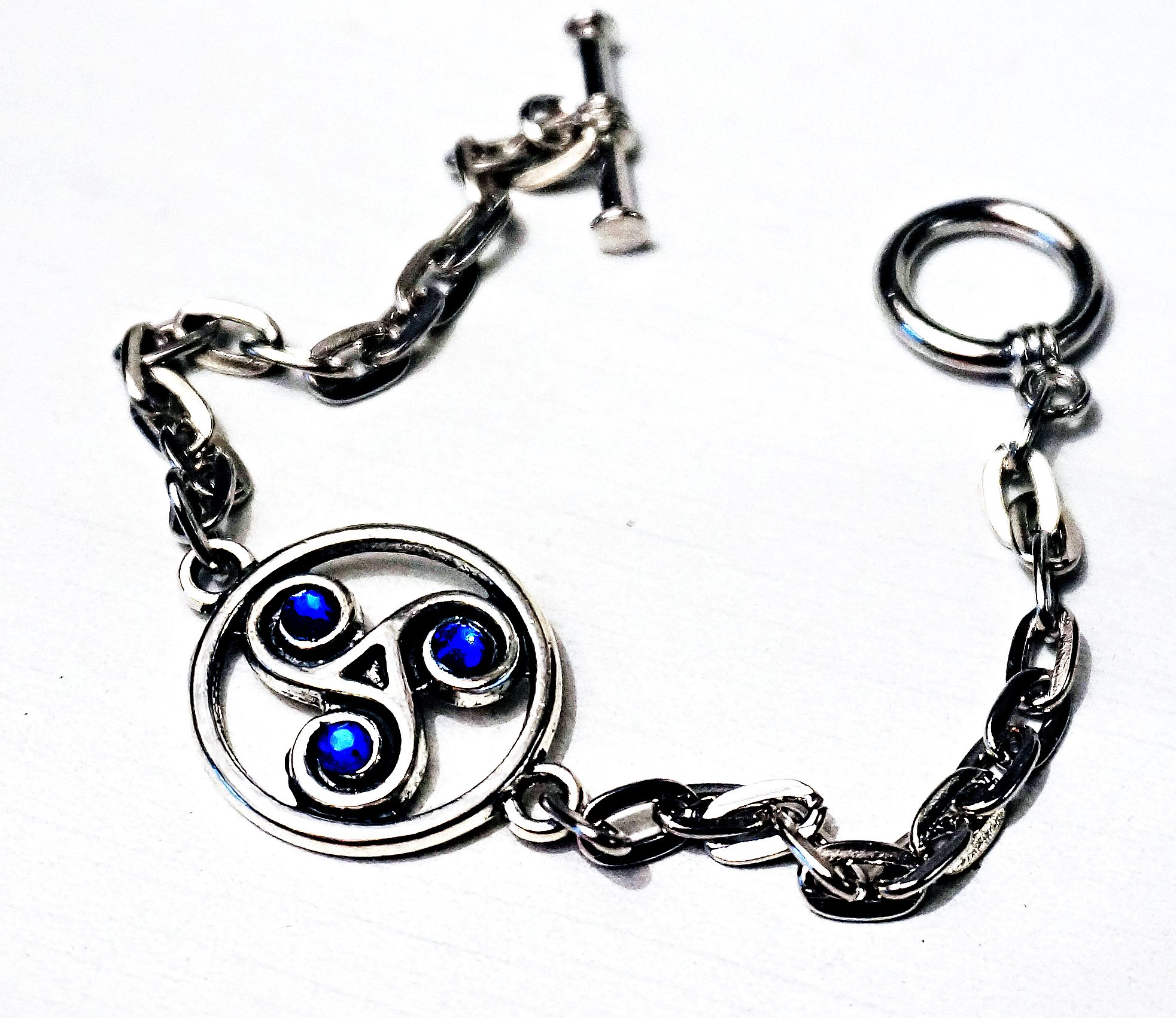 Bdsm Jewelry Symbol Triskele Metal Chain Bracelet Submissive Dominant
