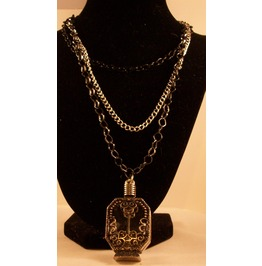 Triple Chain Necklace Perfume Bottle