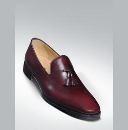 Men Burgundy Tassels Shoes Moccasins, Mens Formal Shoes Men Fashion Shoes