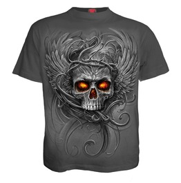 New Charcoal Spiral Direct Roots Of Hell Kids T Shirt/Skull/Horror