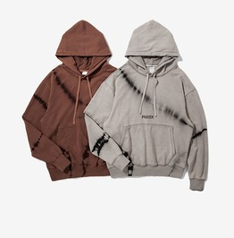 Men's Fashion Letter Printed Distressed Hoodies