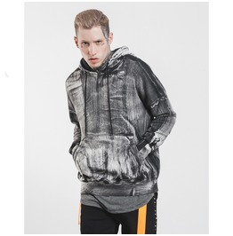 Men's Retro Paint Brush Craftwork Distressed Hoodies