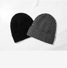 Men's Classic Warm Winter Hats Thick Knit Cuff Beanie Cap