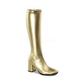 Gogo Hippie 70s Disco Style Gold Pu Boots