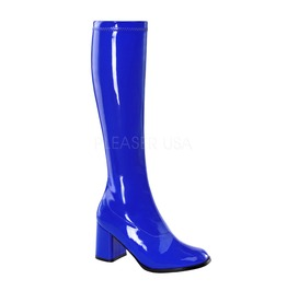 Gogo Dancer Hippie 70s Disco Style Blue Costume Boots