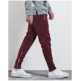 Men's Zipper Deco Drawstring Jogger Pants