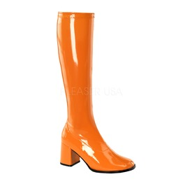 Gogo Hippie 70s Disco Style Orange Costume Boots