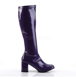 Gogo Hippie 70s Disco Style Purple Costume Boots