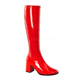 Gogo Hippie 70s Disco Style Red Costume Boots