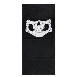 Cool Black Skull Biker Face Mask Neck Tube Thin Fabric