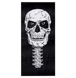 Cool Black Skull Head Biker Face Mask Neck Tube Thin Fabric